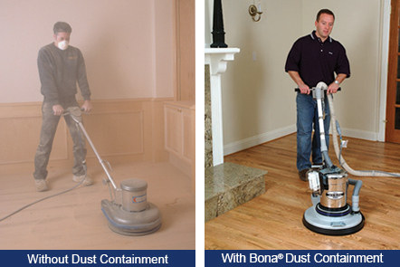 See the difference it makes when you use a Bona Dust Containment on your hardwood.