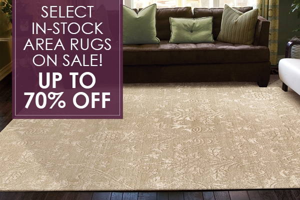 Select in-stock area rugs on sale!  Up to 70% OFF!