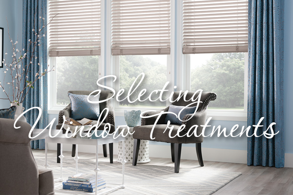 Selecting window treatments